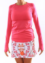 cerise long sleeve pink blossom skirt
