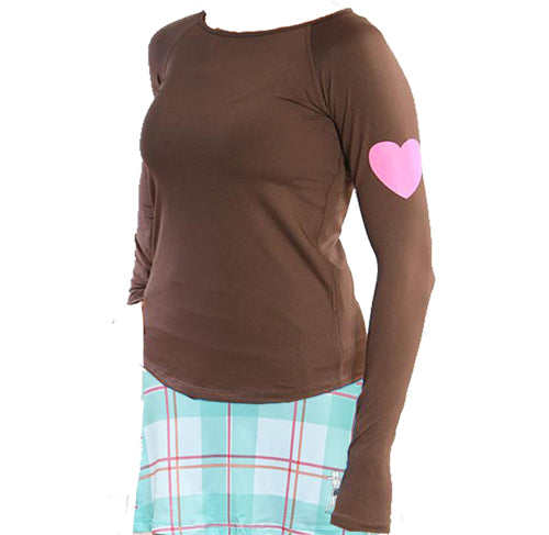 Chocolate Run Love Long Sleeve Performance Top