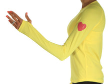 runlove citron long sleeve reflective heart