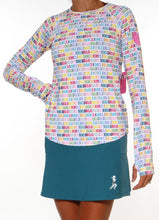 distance long sleeve lagoon skirt