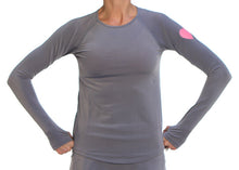 gray runlove long sleeve top