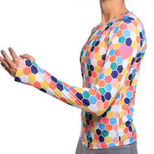 honeycomb long sleeve reflective heart