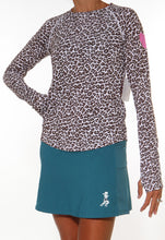 leopard long sleeve lagoon skirt