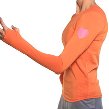 mandarin long sleeve reflective heart