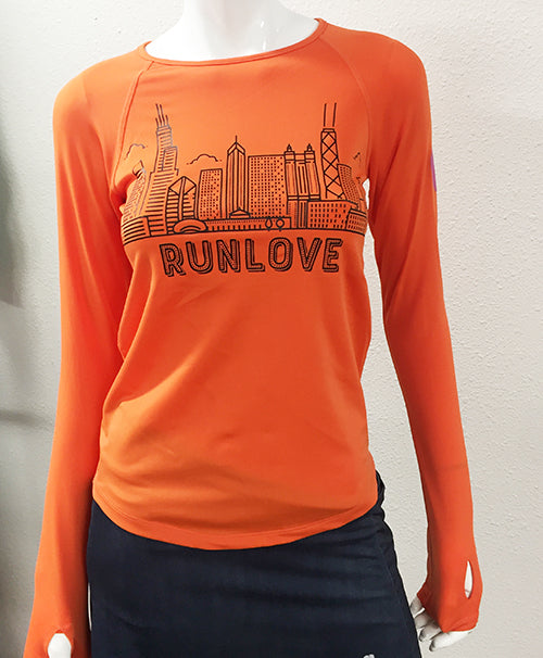 Urban Run Love Chicago Long Sleeve Performance Top