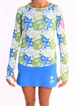 surf ultra skirt white paisley long sleeve