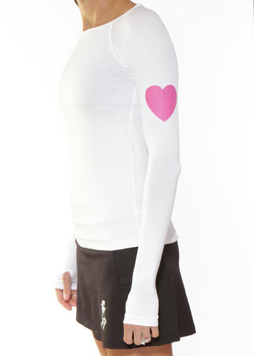 white long sleeve running top