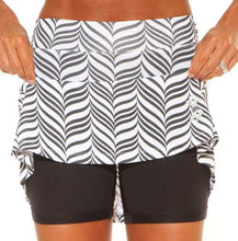 Black and White Candystripe Mini Athletic Skirt (girls size 6-10)