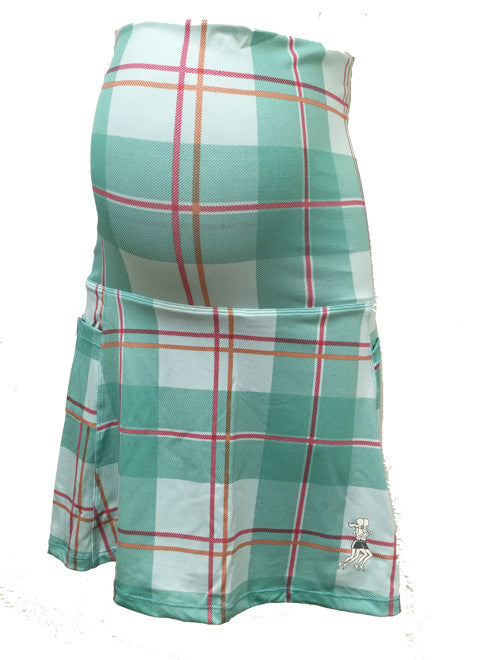 caribbean plaid maternity running skirta
