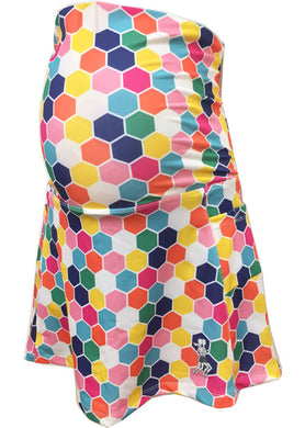 honeycomb print maternity running skirt