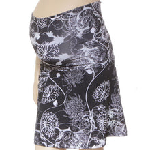 mums noir maternity skirt belly band up