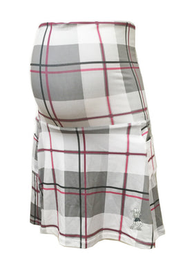 pink plaid maternity running skirt