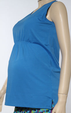 surf blue maternity fitness tank top