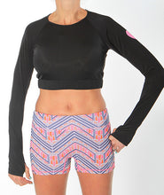 black crop long sleeve and boheme short