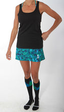 seacamp athletic skirt black tank black summit socks