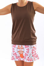 pink blossom skirt chocolate tank