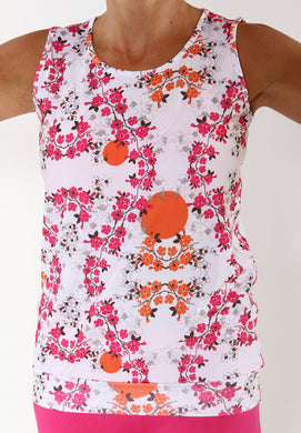 cerise blossom limitless tank top
