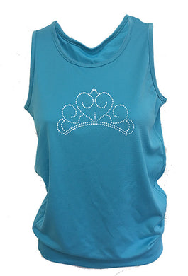 princess blue tank top