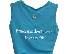 princess blue tiara tank back