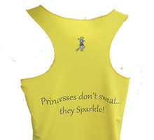 yellow princess tank back