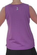 purple performance tank back