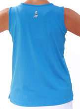 Surf Blue performance tank back