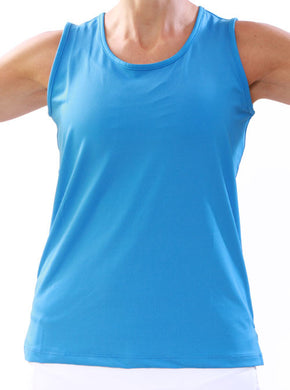 Surf Blue Performance Tank Front