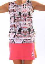 cerise running skirt on the run tank