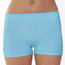 run buns azure dot polka dot