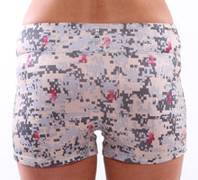 desert camp digital camo volleyball shorts back