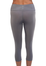 gray running capri tights back