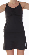 strappy sport dress black