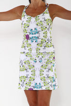 blue blossom sporty run dress