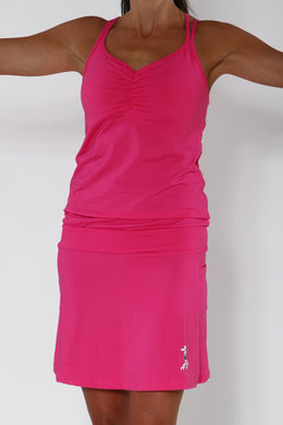 cerise sporty dress