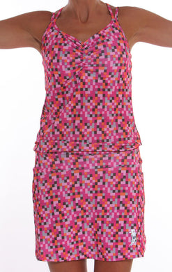 pink pixel sporty dress