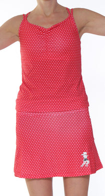 sporty dress red dot front
