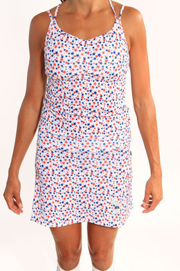 stars red white blue sporty dress
