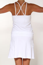 white running dress back