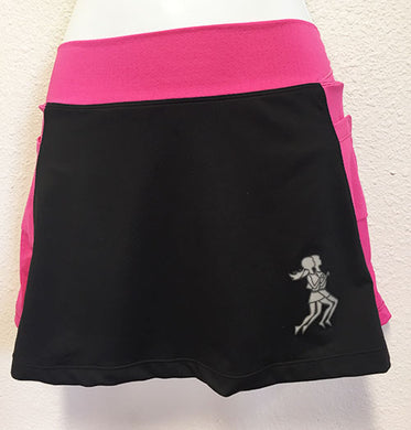Black & Haute PInk Running Skirt