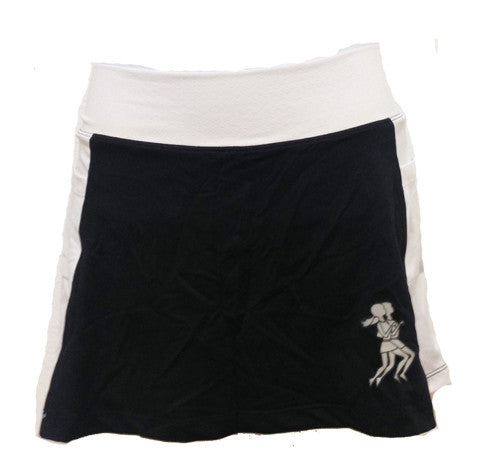 black and white running skirt