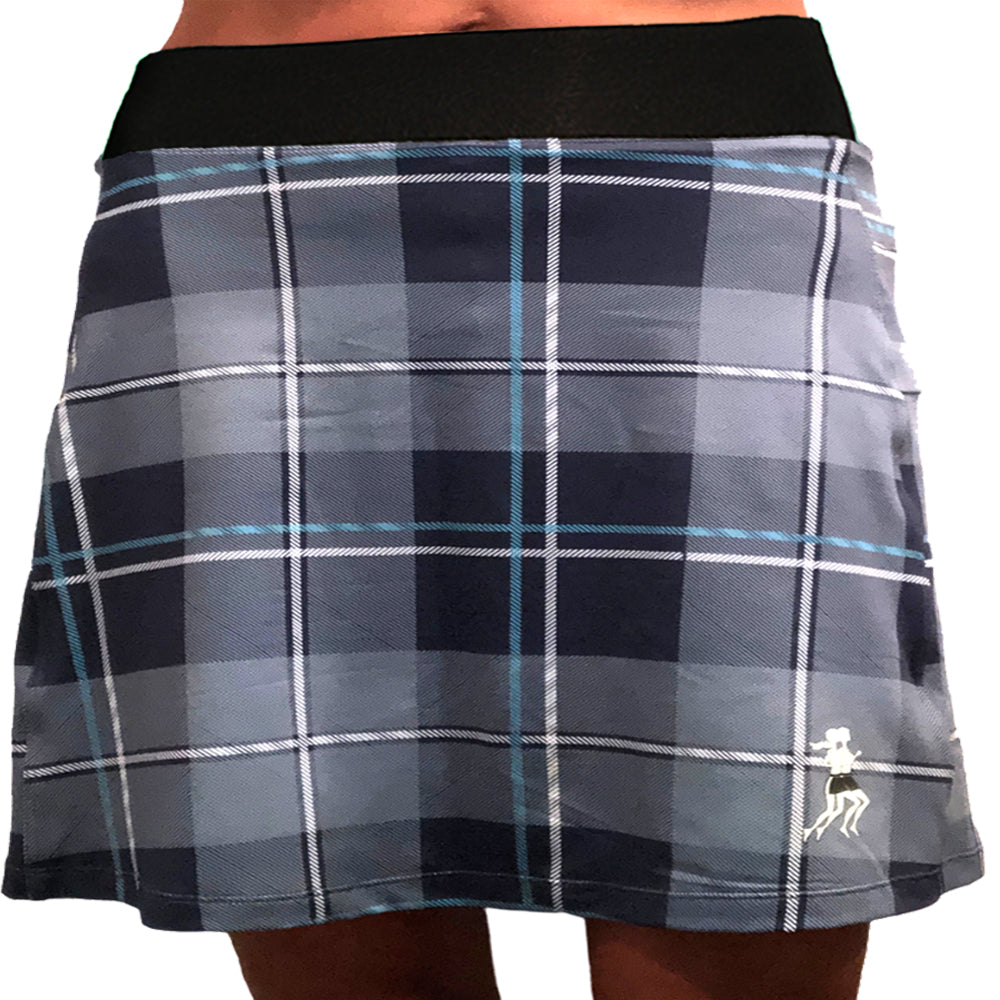 Blue Plaid Running Skirt - PREORDER SHIPS FALL 2020
