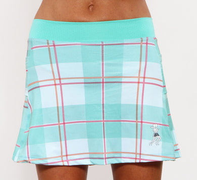 caribbean plaid running skirt