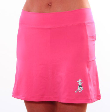 cerise running skirt