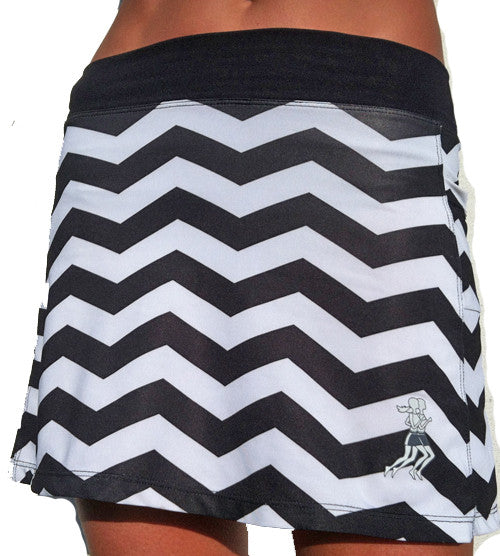 chevron triathlon skirt