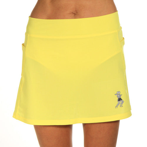 citron yellow running skirt