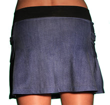 denim running skirt back