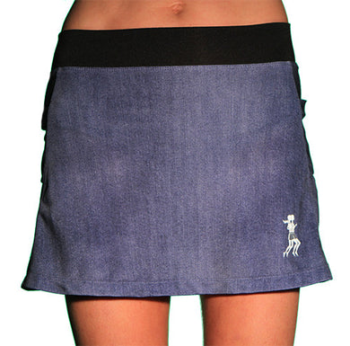 deniim triathlon skirt