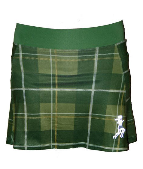 Green Plaid Running Skirt