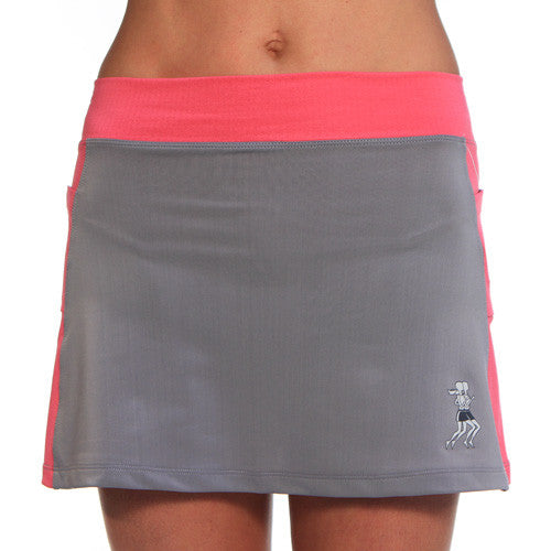 gray cerise running skirt
