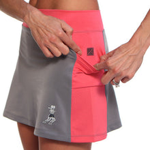 gray cerise running skirt pockets